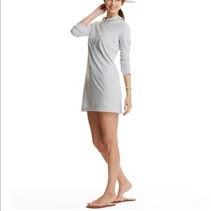 Vineyard V Long-Sleeve Foil Whale Hoodie Cover-Up
